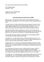 International Education Week Events at SMSU