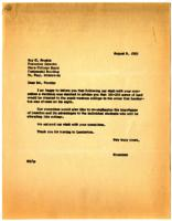 Letter from unknown member of un-named committee in Lamberton, Minnesota to Roy C. Prentis, St. Paul, Minnesota