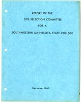 Report of the Site Selection Committee for a Southwestern Minnesota State College, St. Paul