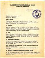 Letter from Elmer Volmer, Lamberton, Minnesota, to O. Meredith Wilson, Minneapolis, Minnesota