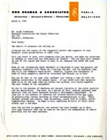 Letter from Don Braman, Minneapolis, Minnesota, to Mr. Sandy Sanderson, Marshall, Minnesota