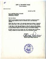 Letter from Arnold E. Paulson, Granite Falls, Minnesota, to O. Meredith Wilson, Minneapolis, Minnesota
