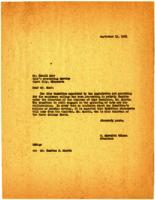 Letter from O. Meredith Wilson, Minneapolis, Minnesota, to Mr. Harold Buhr, Clara City, Minnesota